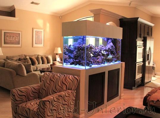 Предметы интерьера аквариум