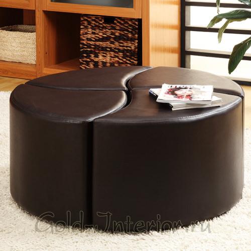 4 стула-пуфика или стол-оттоманка
