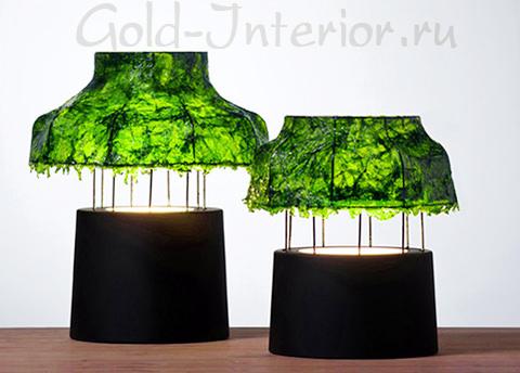 """Абажур лампы - """"изумрудные водоросли"""""""