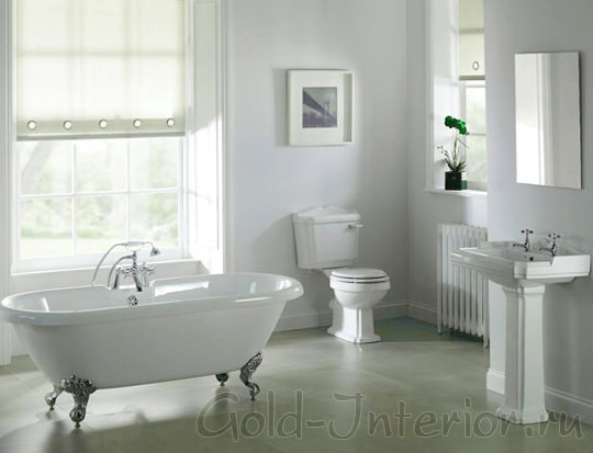 Акриловая ванна белоснежного цвета