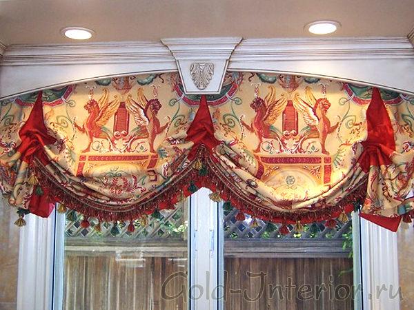 Английские шторы в интерьере