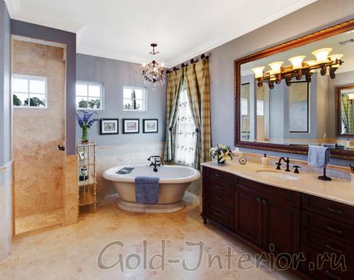 Английский интерьер ванной комнаты