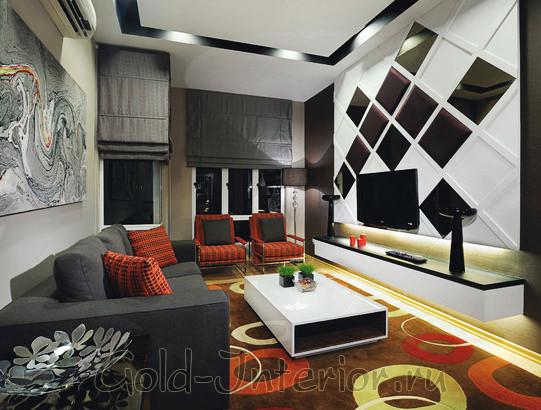Авангардный интерьер гостиной