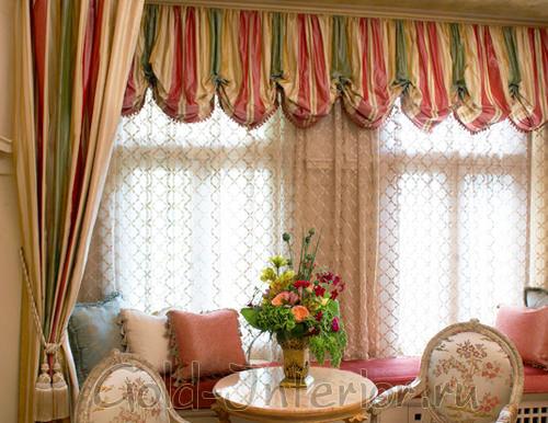 Австрийские шторы для маленьких комнат