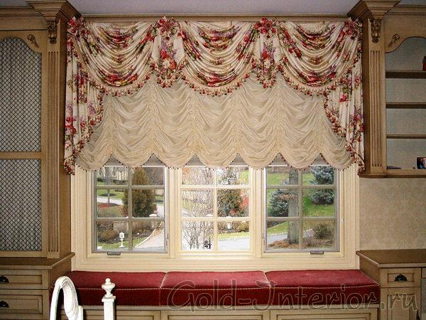 Австрийские шторы в интерьере квартиры
