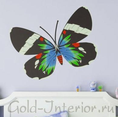 Бабочка-стикер