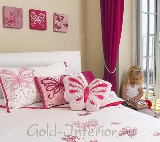 Бабочки в интерьере детской комнаты для девочки