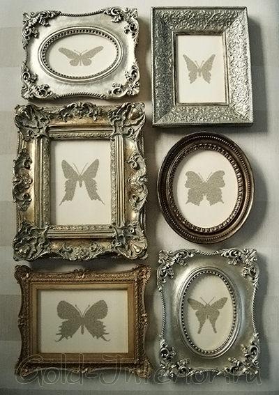 Бабочки в винтажных рамках