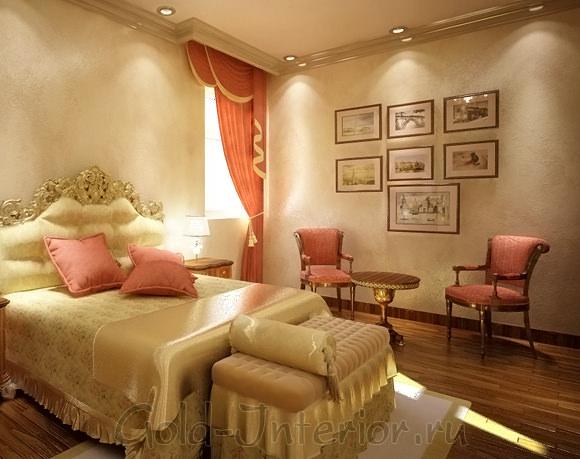 Банкетка в элегантной спальне
