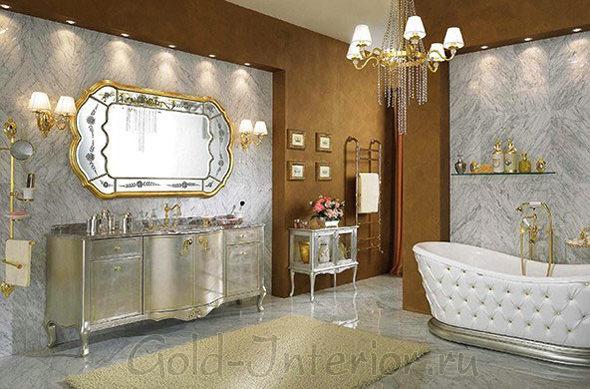 Барокко в интерьере ванной