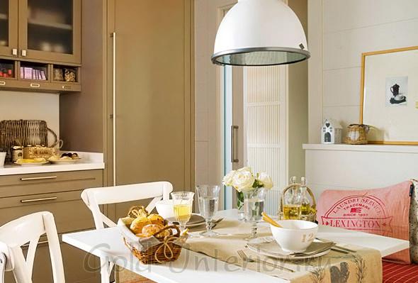 Бежевый и соломенный цвет в интерьере кухни