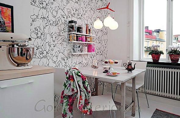 Белая мебель на белой кухне