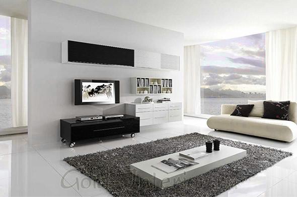 Белая мебель в белом интерьере