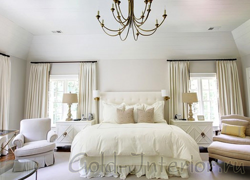 Классическая белая спальня