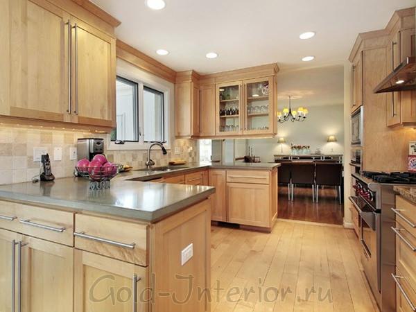 Кухни беленый дуб в интерьере