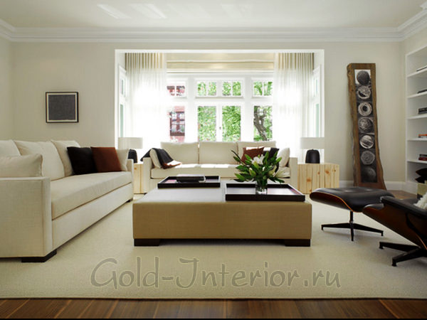 Белая мебель в гостиную