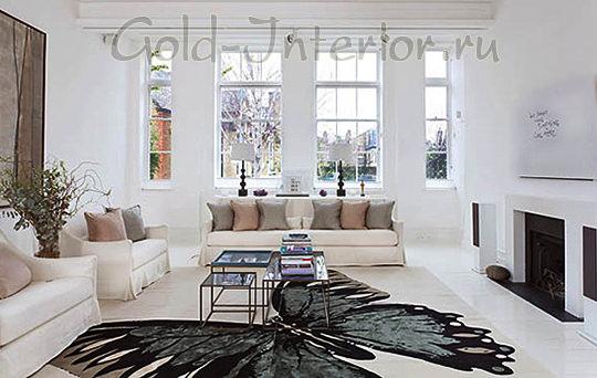 Белый диван + телесные оттенки