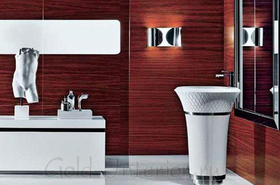 Белый гарнитур в ванной
