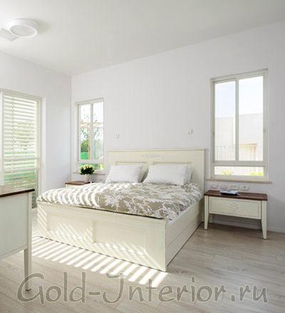 Белоснежная цветовая гамма в интерьере спальни