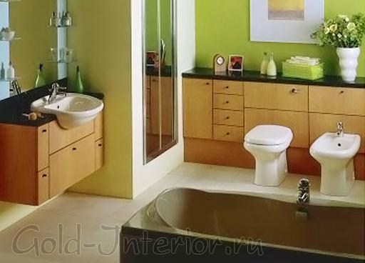 Биде в интерьере совмещённой ванны с туалетом