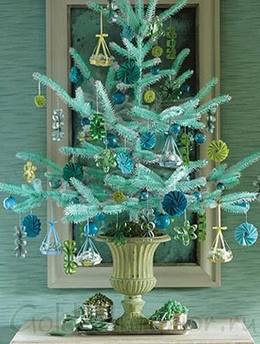 Бирюзовое новогоднее деревце