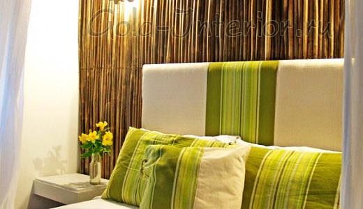 Бамбуковые обои с широкими и выпуклыми планками
