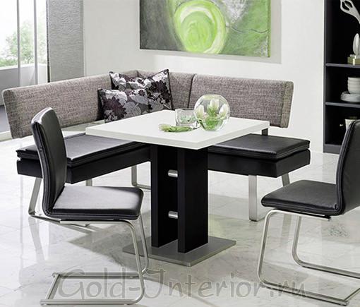 Чёрно-белый кухонный уголок