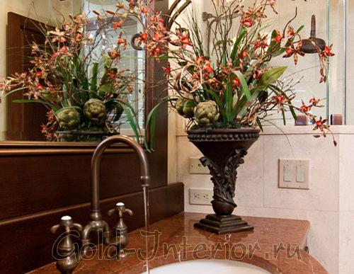 Чертополох и орхидея