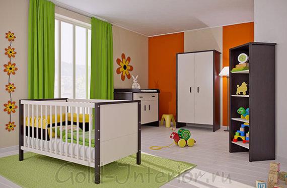 Цвет венге в элементах корпусной мебели