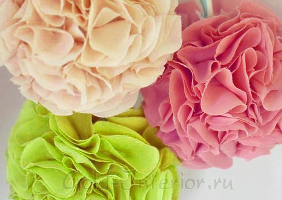 Цветы-шары своими руками для интерьера комнаты