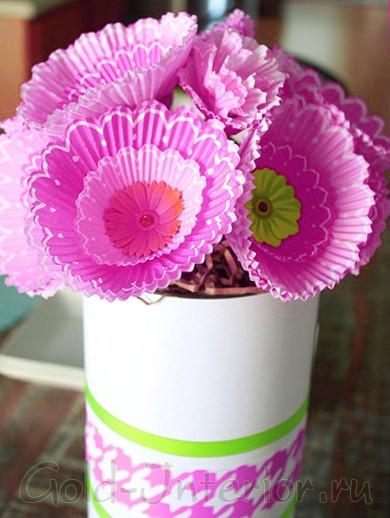 Цветы из формочек для выпечки своими руками