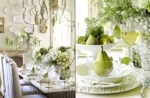 Красивые искусственные цветы на банкетном столе