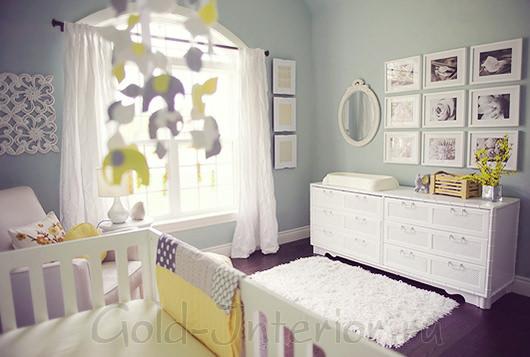 Цветовая палитра для комнаты новорождённого мальчика