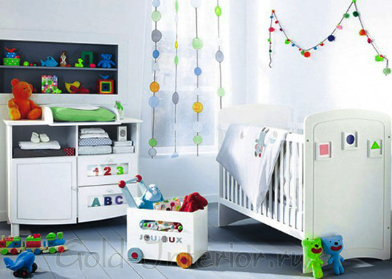 Декор для комнаты мальчика до трёх лет