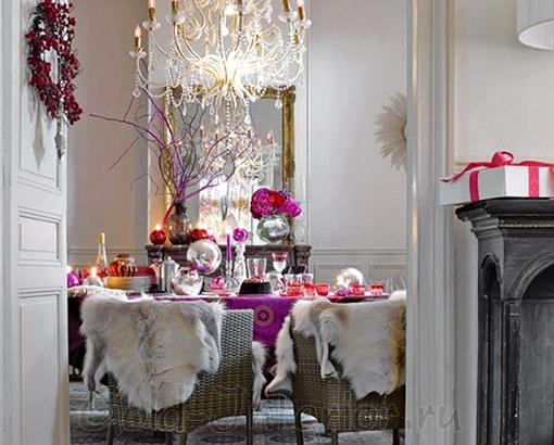Декорирование интерьера дома к новому году