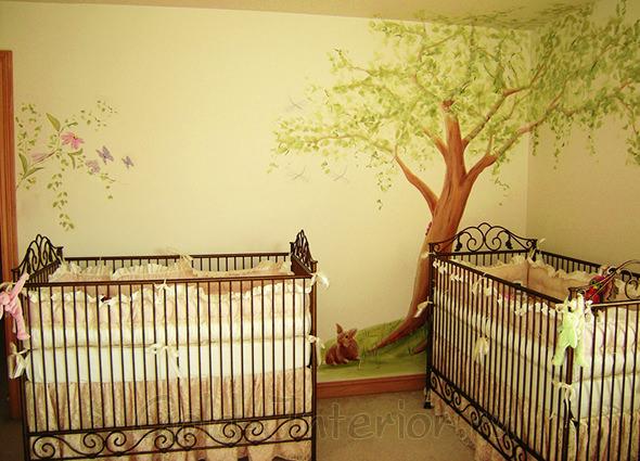 Детская для двух новорождённых