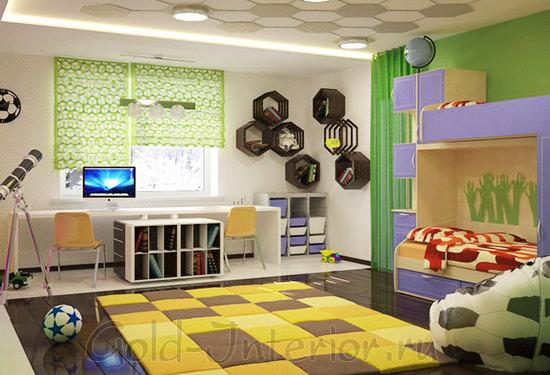 Детская комната для поклонников футбола