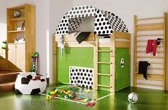 """Детская комната для мальчика - """"футбольное поле"""""""