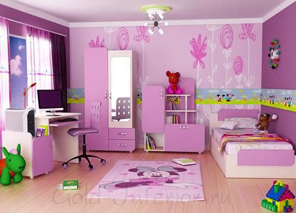 Детская комната в трёхкомнатной квартире п44т