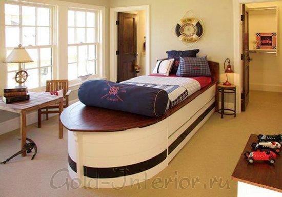 Детская кровать в виде лодки