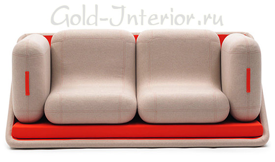 Диван распадается на кровать, 2 кресла и скамейки