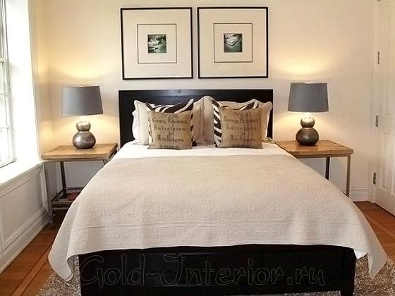 Дизайн маленькой спальни в сдержанном стиле