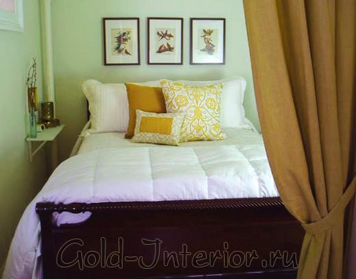 Дизайн спальни маленького размера в хрущёвке
