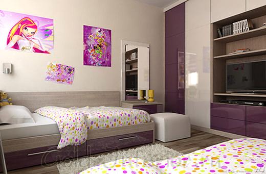 Дизайн интерьера девичьей комнаты
