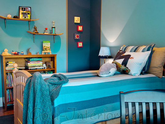 Дизайн интерьера для комнаты мальчика в морском стиле