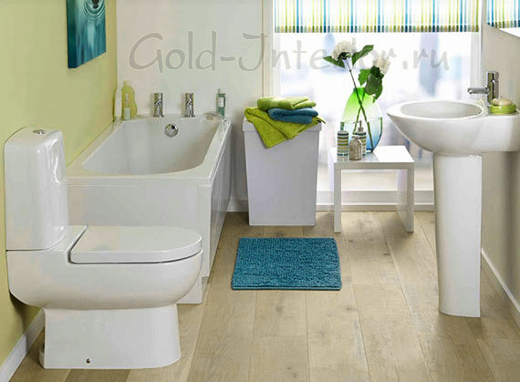 Дизайн интерьера объединённого туалета с ванной