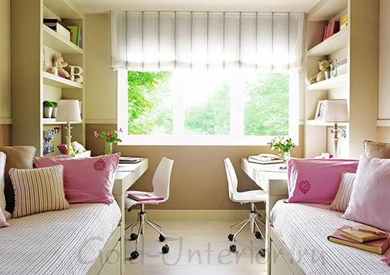 Дизайн комнаты для 2 девочек