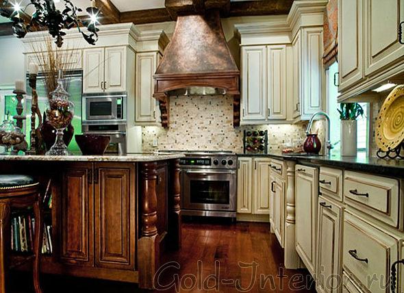 Дизайн кухни в стиле ампир