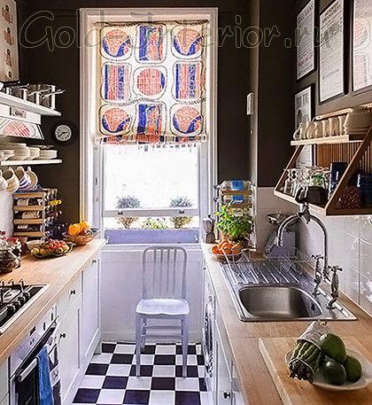 Дизайн вытянутой кухни площадью 12 кв м