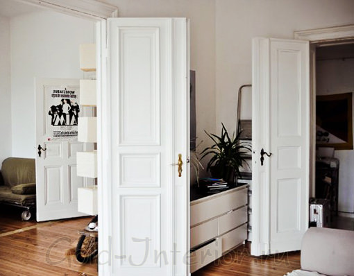 Двери белого цвета в интерьере